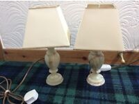 2 small bedside lamps .. in immaculate condition