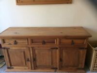 Solid Mexican Pine Sideboard