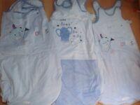 3 blue sleeping bags 12-24 months