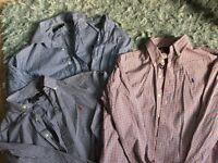 3 Ralph Lauren men's shirts