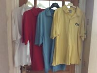 4 callaway polo shirts,size medium , have been worn ,in good condition