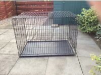Very large dog cage.