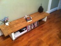 LARGE SHABBY CHIC Rustic TV stand Audio Unit/Cabinet solid RECLAIMED wood~DISPLAY TABLE