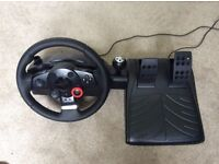 Logitech Driving Force GT Wheel and Pedals