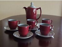 Branksome China Coffee Pot + 5 Cups & 6 Saucers -