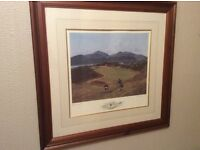 Royal County Down Golf Club. Limited Edition Print. ( 9th Hole ).