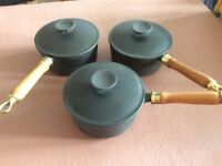 Salter Cast Iron Saucepan Set