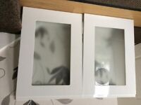 2 lovely new glass cabinet doors for kitchen