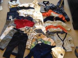 Big bundle boys 9-12 months clotges