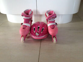Hello Kitty Roller Blades and Helmet