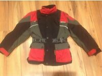 Kids Reiss Textile Motorcycle Jacket with CE Protectors and inner lining.Small.