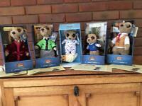 Boxed collectible meerkats