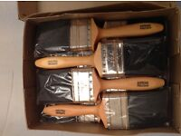 "A Box of 12 Professional Quality 3"" Paint Brushes"