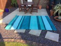 Next teal wool rug