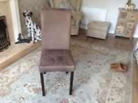 Brown single chair good condition and a comfortable spare chair.