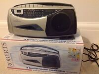 Roberts 3 band radio cassette recorder with clock alarm