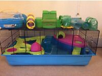 Savic hamster cage large,carry basket, tunnel and extras