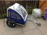 Halfords Double child's bike trailer -- halfords trail Buggy