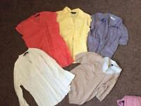 Collection of women's shirts size 8/10