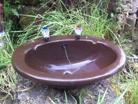 Vintage vanity basin in chocolate-brown