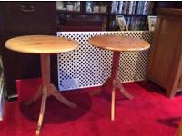 Two identical Natural Pine Side/Lamp Tables £10 could be Project