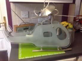 Glass helicopter light for bedroom £50