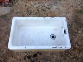 Large Belfast / Butler sink suitable planter for veg/ alpines/ patio display or outside utility sink