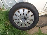 Wheels and tyres off vw T5 X4 wheels