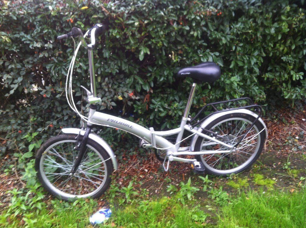 PROBIKE ENFOLD EASY FOLD 6 speed shimano gears Student Comuting , Holidays fit in car boot etc .