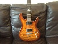 Ibanez guitar, Marshall Amp, Wah-Wah pedal