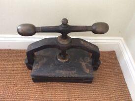 Antique Book Press; very decorative piece