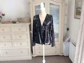 Sequinned Black evening jacket (never worn with tags) M/L