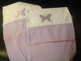 Lilac butterfly curtains