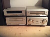 Technics HI-Fi System SE-HD 350 Amp, CD player, cassette deck, Tuner and Speakers