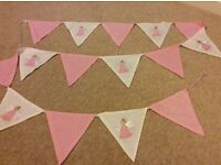 Pink/white Fairy Bunting, girls bedroom