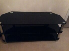 BLACK TV UNIT, cost £100 heavy