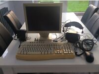 Monitor and keyboard with extras