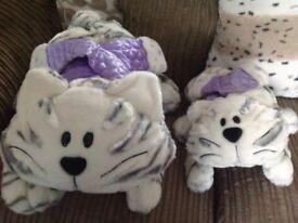 Christmas cat plush toys large and medium sizes