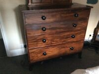 Real solid wood chest of drawers