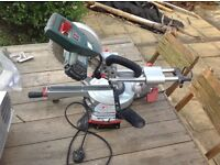 Metabo slide saw used for home DIY jobs with blade in good working order