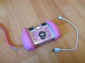 vtech pink kids camera kiddizoom duo - excellent condition