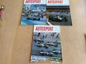 Three 1967 Vintage Autosport Magazines