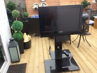 Television and shelved stand