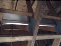 """Roof ridging/capping aluminium 6 lengths 2.4mtrs x 12"""" Brand new never used."""