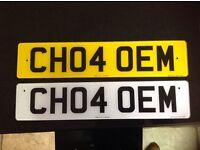 'CH04 OEM' reg plate