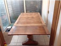 Antique dining table and 2 chairs for sale