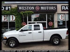 2011 RAM 1500 CREW CAB*4X4*POWER GROUP*DEALER MAINTAINED*