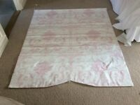 Laura Ashley Roman Blind Josette Fabric Pink 33inches wide x58 Inches long