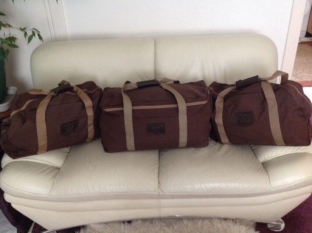 Goldwing Brown canvas pannier bags