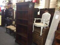 Reduced Tall mahogany bookcase